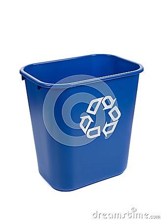 Free Recylce Bin On A White Background Stock Photo - 11374480