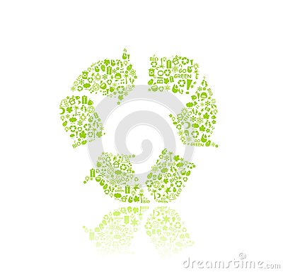 Recyple Silhouette Icon Sign