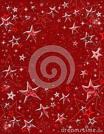 Red 3-D Stars