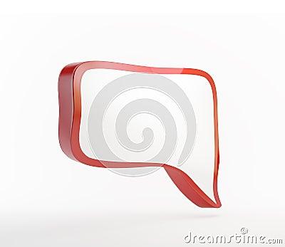 Red 3d speech bubble