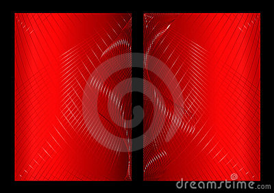 Red abstract background, front and back