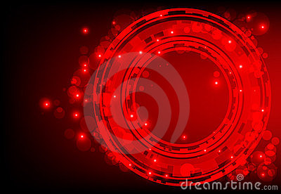 Red abstract background with glowing lights