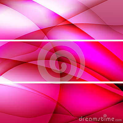 Red abstract backgrounds banners