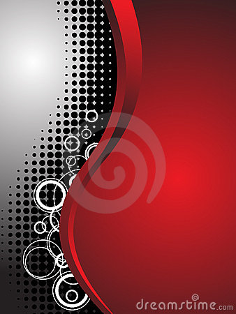 Red Abstract Technology Business Background