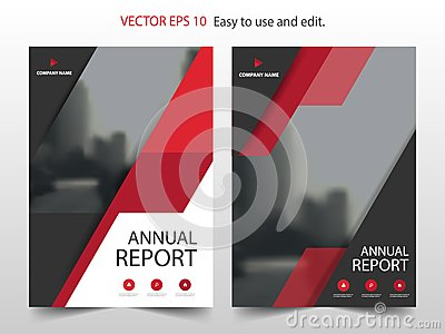 Red abstract triangle Brochure annual report design template vector. Business Flyers infographic magazine poster.Abstract layout Vector Illustration