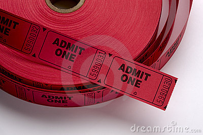 Red Admit One Tickets