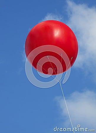 Red advertising balloon