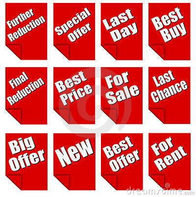 Red advertising sheets