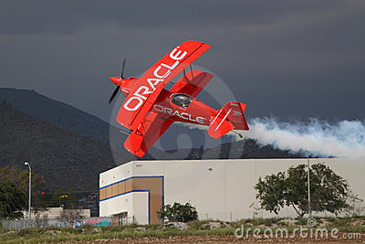Red Aerobatic Plane Editorial Stock Photo