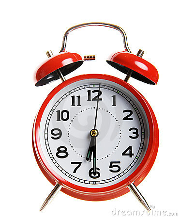 Free Red Alarm Clock Royalty Free Stock Photos - 8251628
