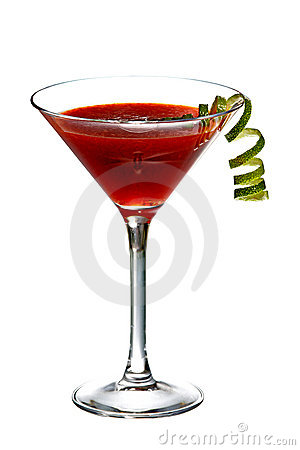 Red alcohol drink