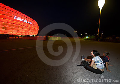 Red Allianz Arena Editorial Image