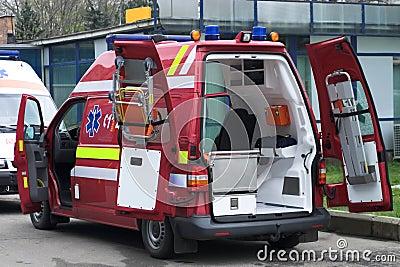 Red ambulance