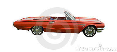 Red American convertible