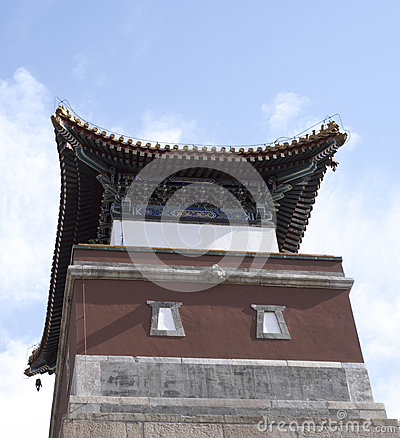 Red Ancient Chinese Architectures Under Blue Sky