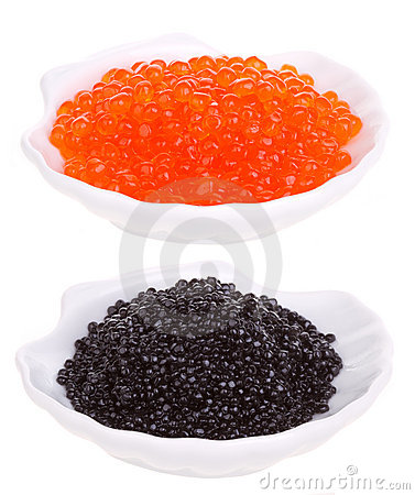 Free Red And Black Caviar Stock Images - 18547584