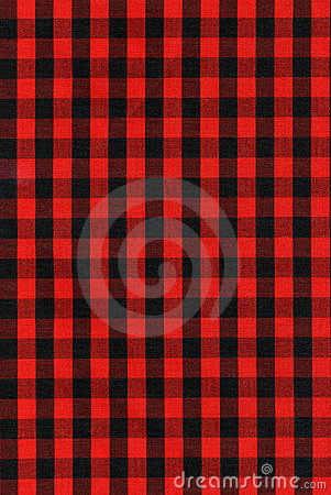 Free Red And Black Checkered Fabric Texture Stock Image - 7395001