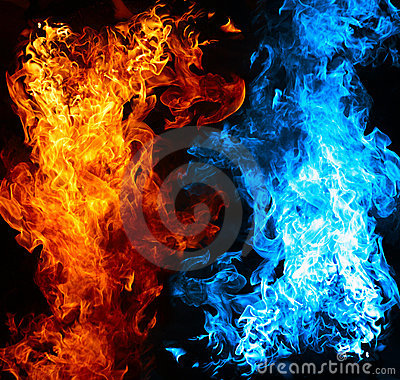Free Red And Blue Fire Stock Photography - 16762772