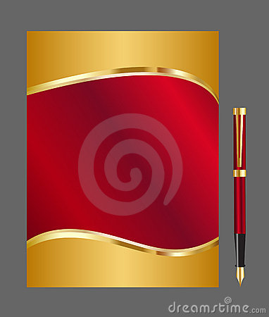 Free Red And Gold Abstract Background Royalty Free Stock Photo - 13990955