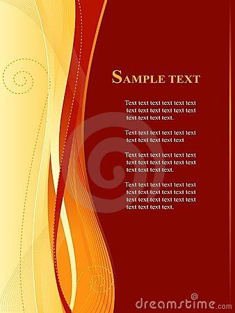 Free Red And Gold  Business, Web Template Stock Photo - 6610660