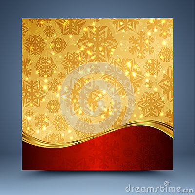 Free Red And Gold Christmas Abstract Background Royalty Free Stock Photos - 35705128