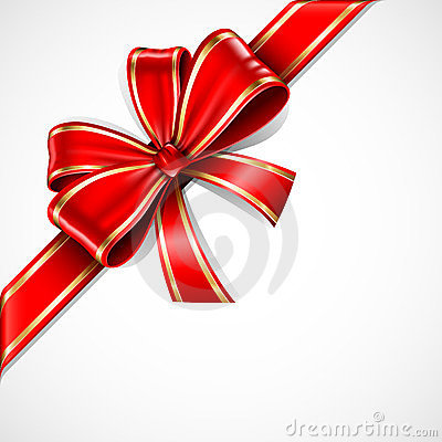 Free Red And Gold Gift Bow Stock Photography - 24062032