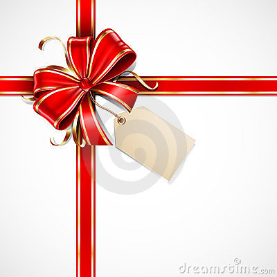 Free Red And Gold Gift Bow Royalty Free Stock Photography - 24062037