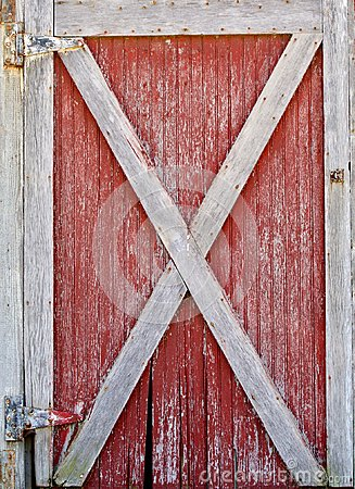 Free Red And White Barn Door Stock Photography - 94782682