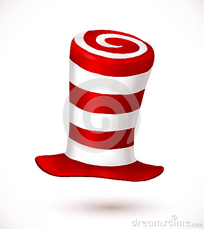 Free Red And White Colors Stripes Realistic Vector Carnival Hat Royalty Free Stock Photo - 78085895