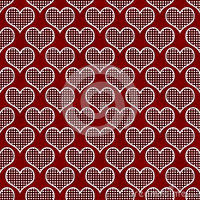Free Red And White Polka Dot Hearts Pattern Repeat Background Stock Photos - 36883713