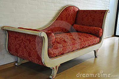 Red antique sofa