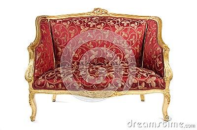 Red Antique Sofa