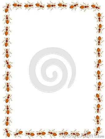 Red ants border / frame