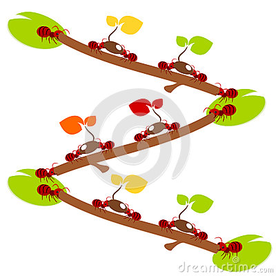 Red ants environmet teamwork illustration