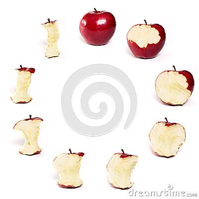 Red Apple Being eaten Series