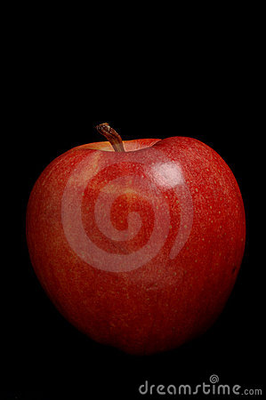 Red Apple on Black