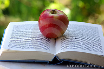 A Red Apple On A Book