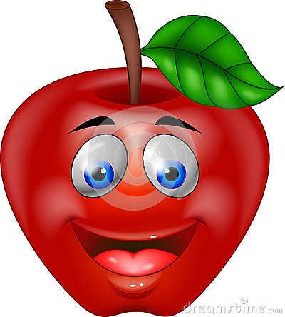 Red apple cartoon