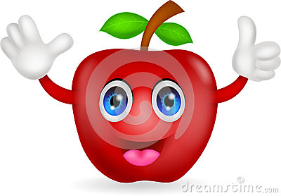 Red apple cartoon