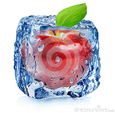 Free Red Apple In Ice Stock Images - 40118204