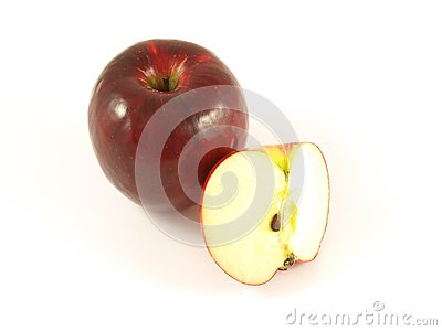 Red apple, isolated