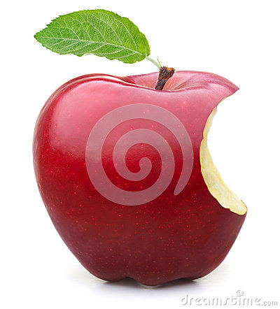 Free Red Apple Missing A Bite Stock Photos - 47513053