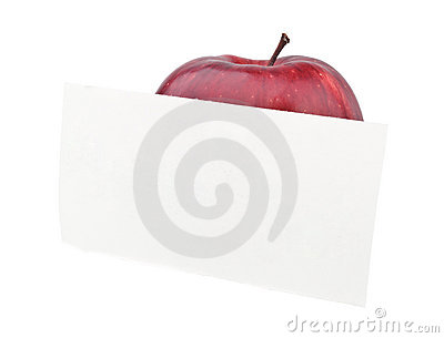 Red apple with a note