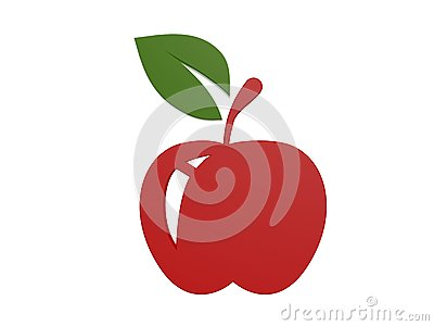 Red apple symbol
