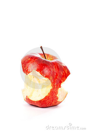 Free Red Apple With Some Bites Royalty Free Stock Photo - 1756265