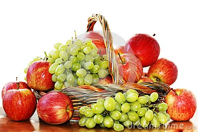 Red apples and grapes