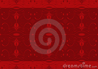 Red arabesque wallpaper