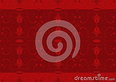 Red arabesque wallpaper