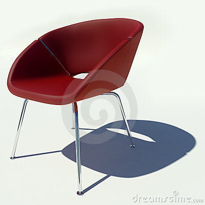 Free Red Armchair 3D Rendering Royalty Free Stock Image - 18737416