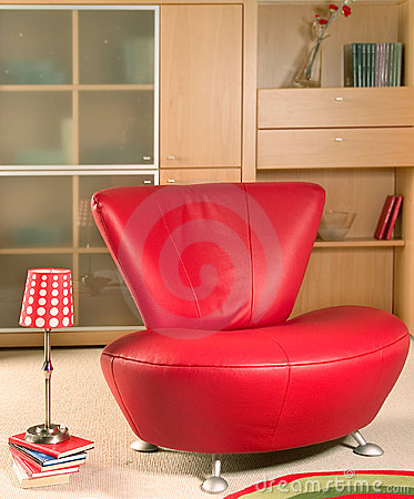 Free Red Armchair Royalty Free Stock Image - 4083616